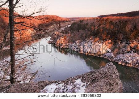 Potomac River Gorge Stock Photos, Royalty.