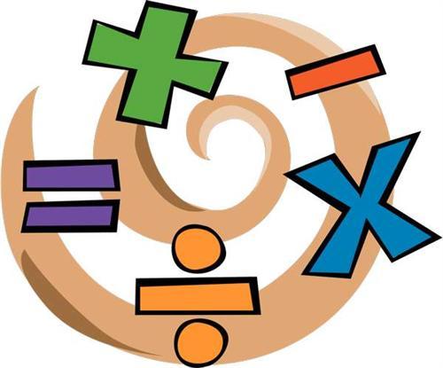 Maths operations clipart.