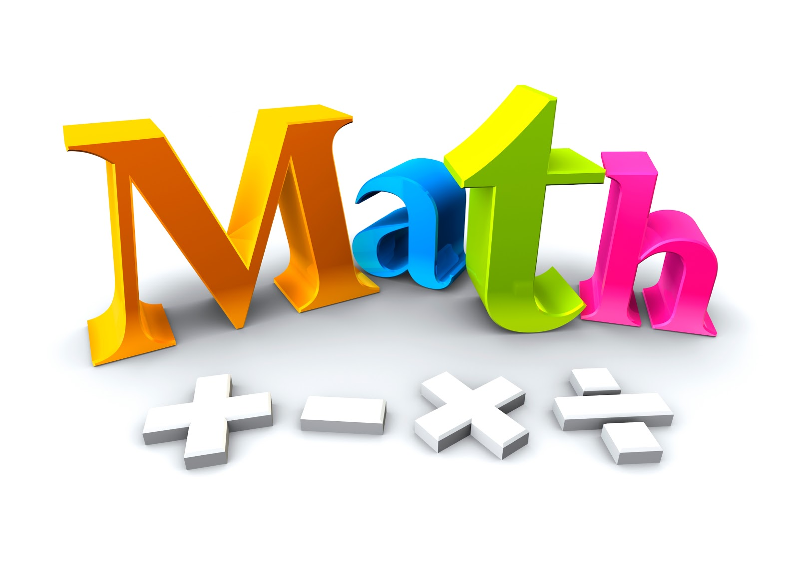 Math Clipart For Kids.