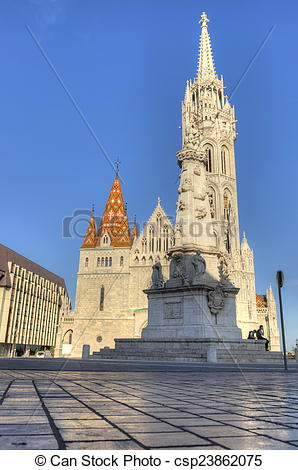 Picture of Church of Mathias Rex in Budapest, Hungary csp23862075.