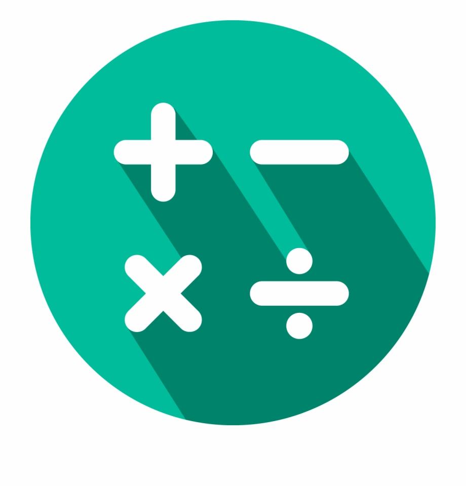 Mathematics Clipart Icon.