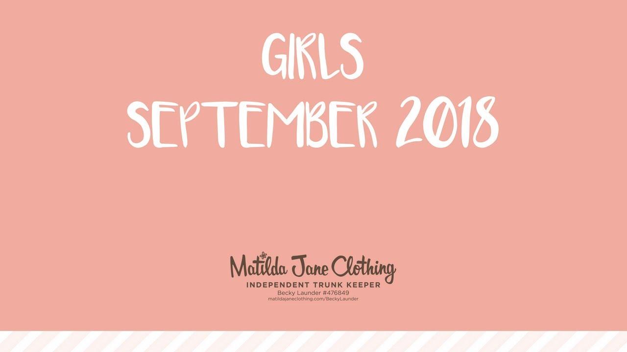 Girls September 2018.
