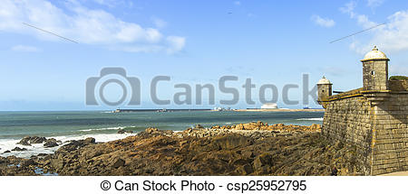 Stock Photographs of Panorama of Castle of the Cheese (Matosinhos.