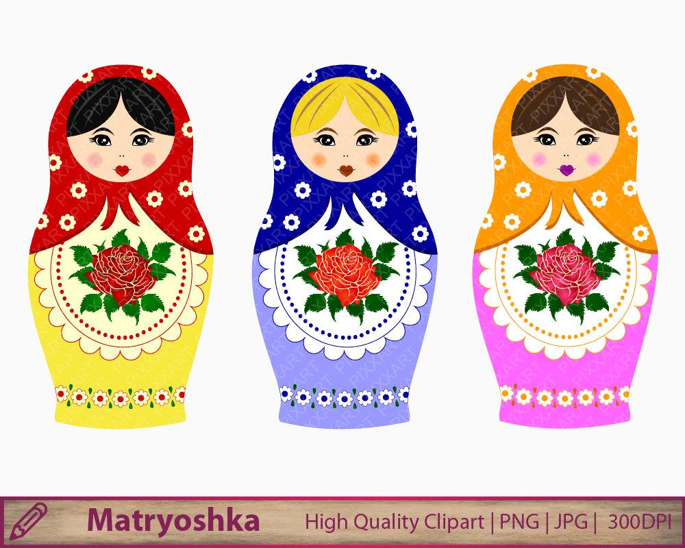 Matryoshka clip art.