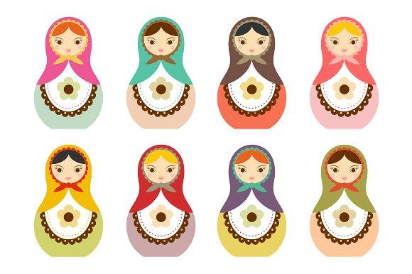 Matryoshka Russian Doll Clip Art ~ Illustrations on Creative Market.