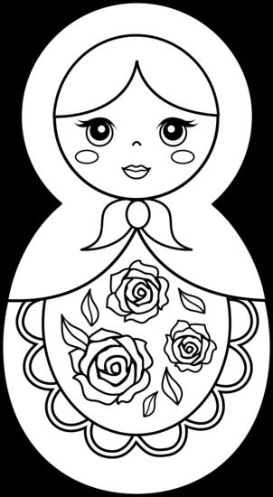 Matryoshka doll clipart.