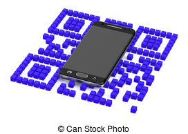 3d qr code matrix barcode Illustrations and Stock Art. 21 3d qr.