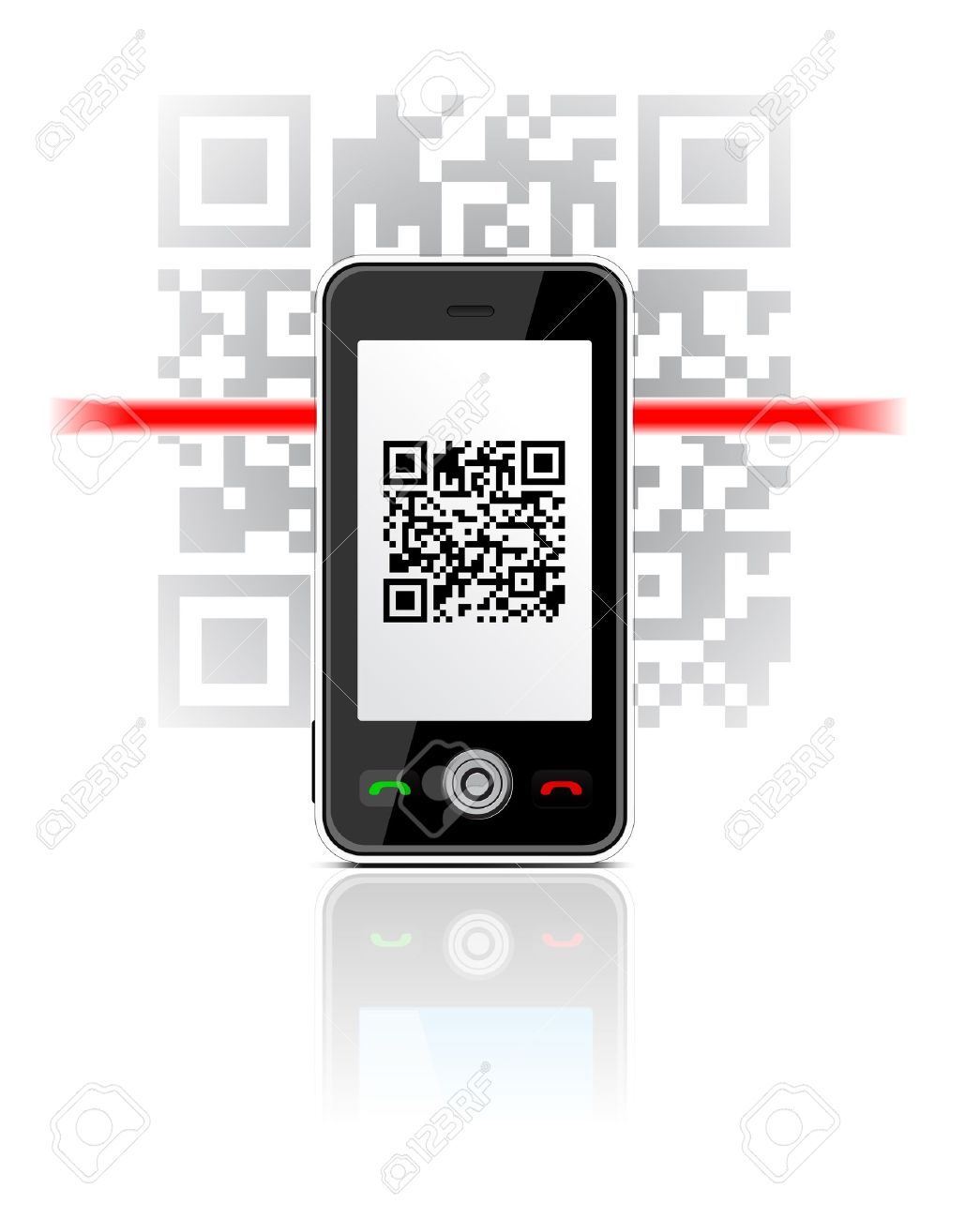 Phone Scaned QR Code Royalty Free Cliparts, Vectors, And Stock.