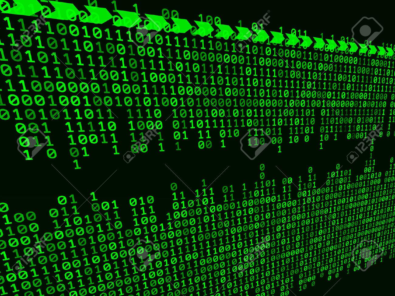 Matrix binary clipart.