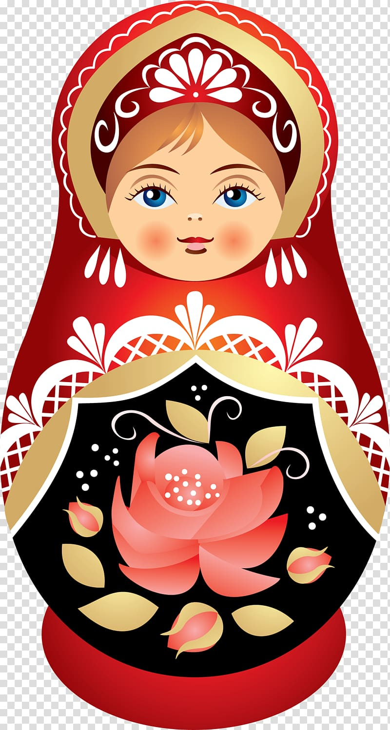 Matryoshka doll Sarafan , basil transparent background PNG.