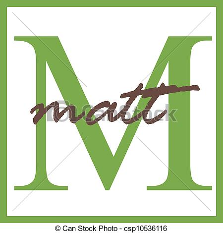 Clipart of Matt Name Monogram.