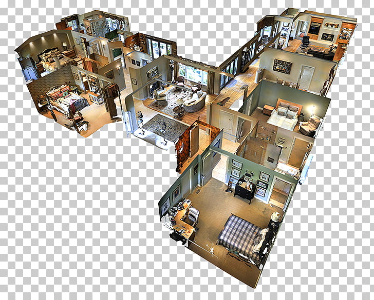 3D floor plan Virtual tour Matterport, house PNG clipart.