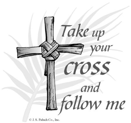 Take Up Your Cross And Follow Me Clipart.
