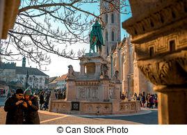 Stock Image of Saint Matthias church and Fisherman Bastion in.