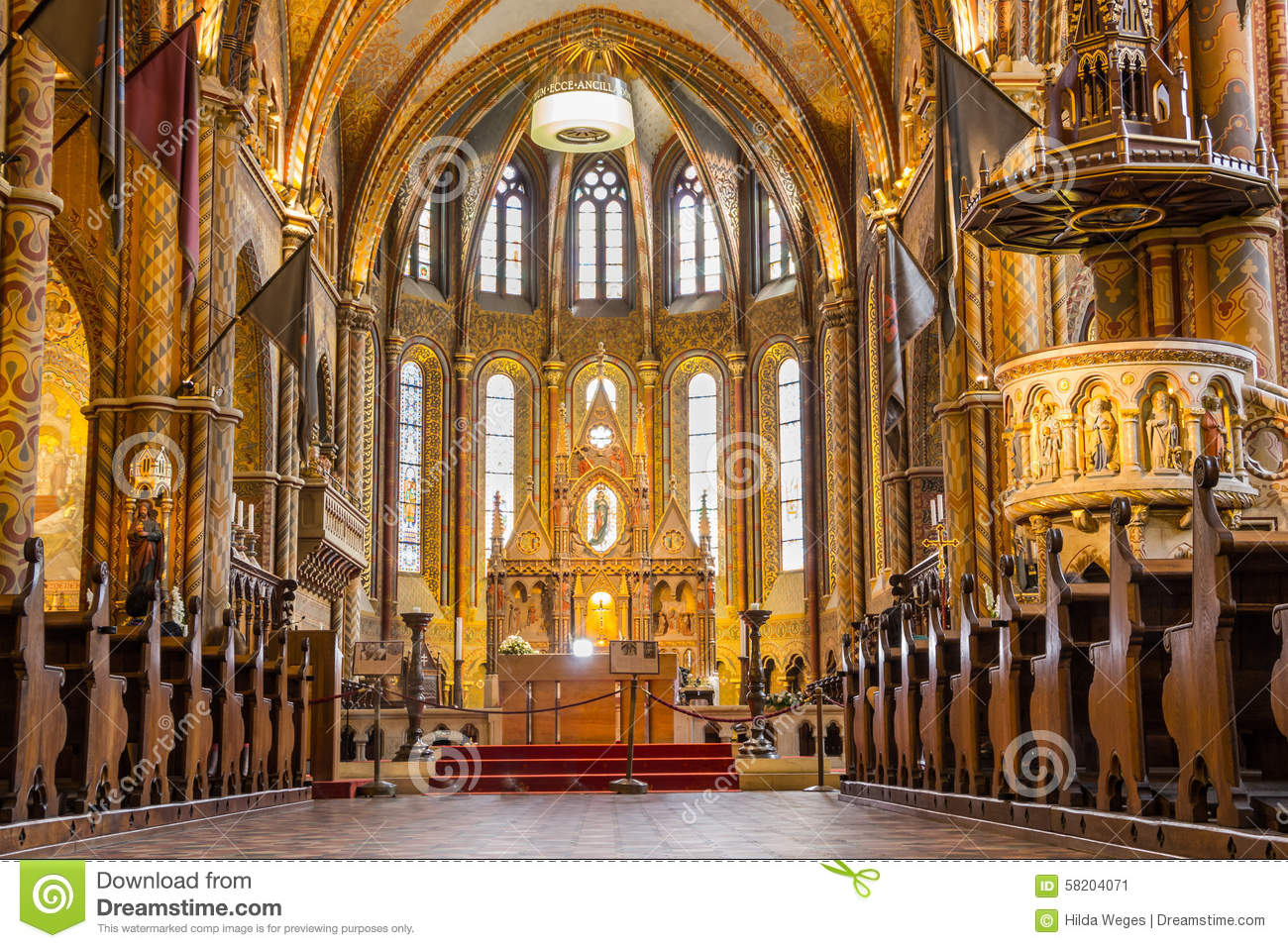Matthias Church In Budapest The Capital City Of Editorial Photo.