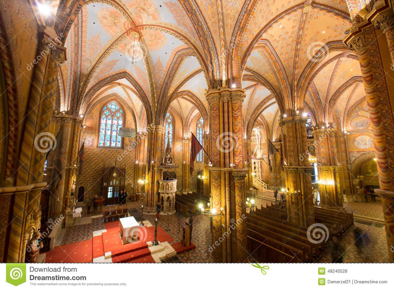 Matthias Church Interior.