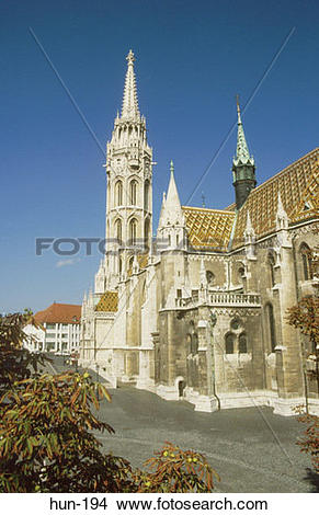 Stock Photo of Matthias Church Old Town Budapest Hungary hun.