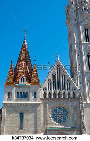 Stock Photo of St. Matthias church in Budapest, Hungary. k34737034.