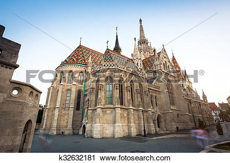Stock Photography of Cathedral of St. Matthias in Budapest.