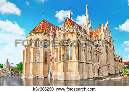 Stock Photography of St. Matthias Church in Budapest. One of the.