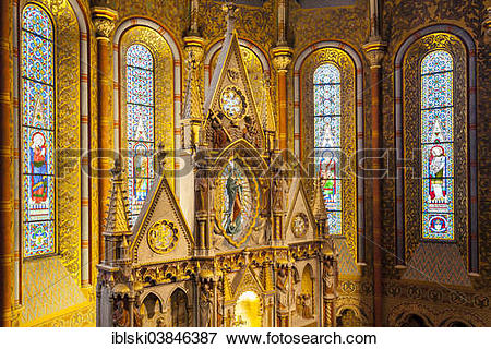 "Picture of ""Altar of Matthias Church, Budapest, Hungary, Europe."