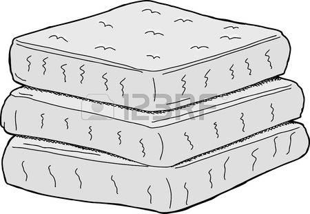 Mattress Stock Vector Illustration And Royalty Free Mattress Clipart.