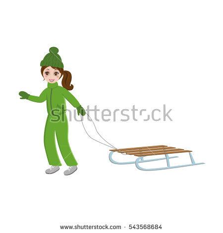 Cartoon Boy Overalls Holding Shovel Start Stock Vector 523748458.