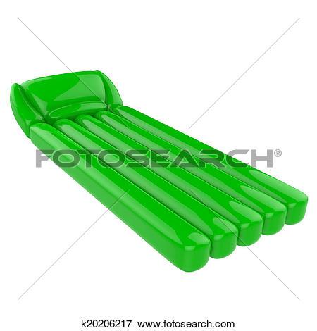 Stock Illustration of Floating air mattress k20206217.