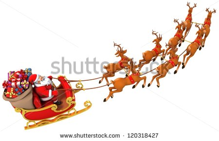 Santa Sleigh Stock Photos, Royalty.
