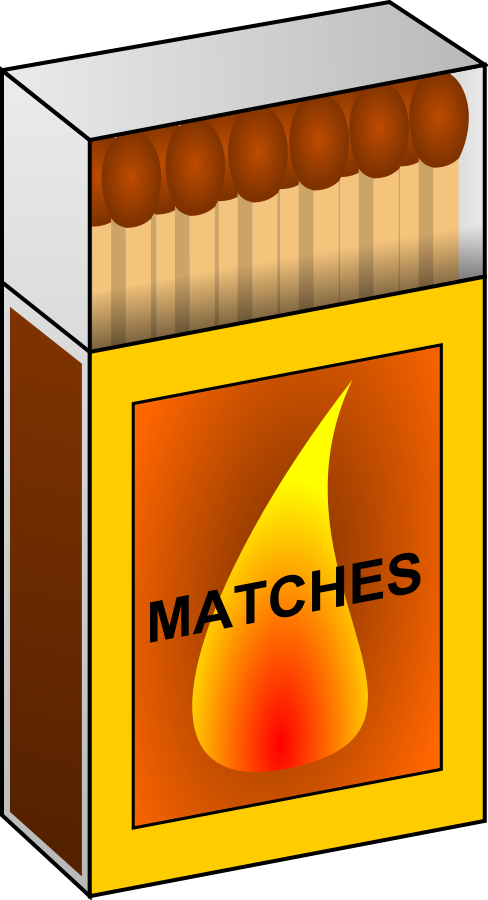 Match Box 2 Clipart, vector clip art online, royalty free design.