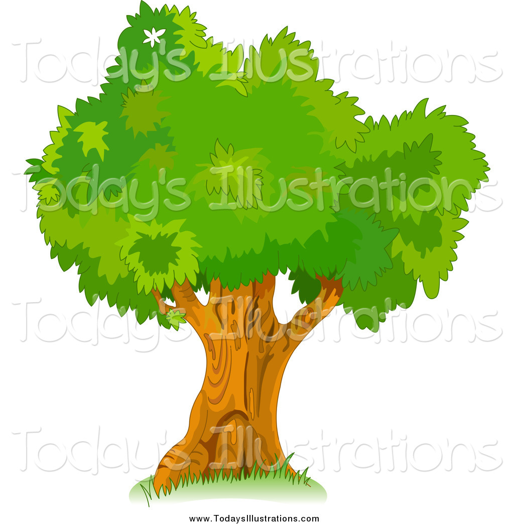 Clipart of a Mature Tree by Pushkin.
