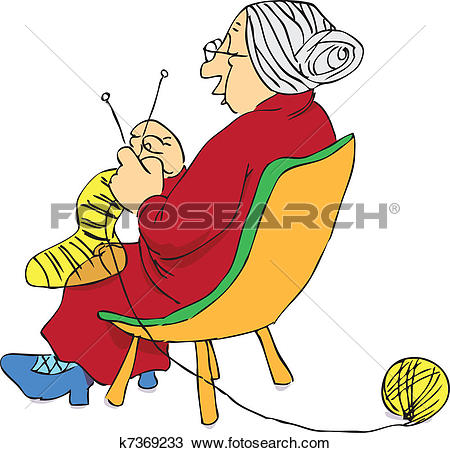 Clipart of Mature woman k7369233.