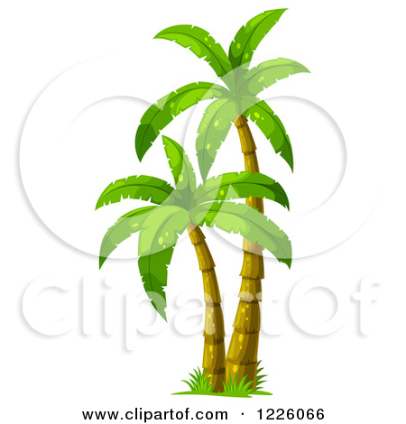 Clipart of a Lush Earth with Mature Trees.