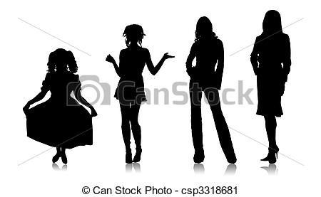 Clipart of Maturing person.