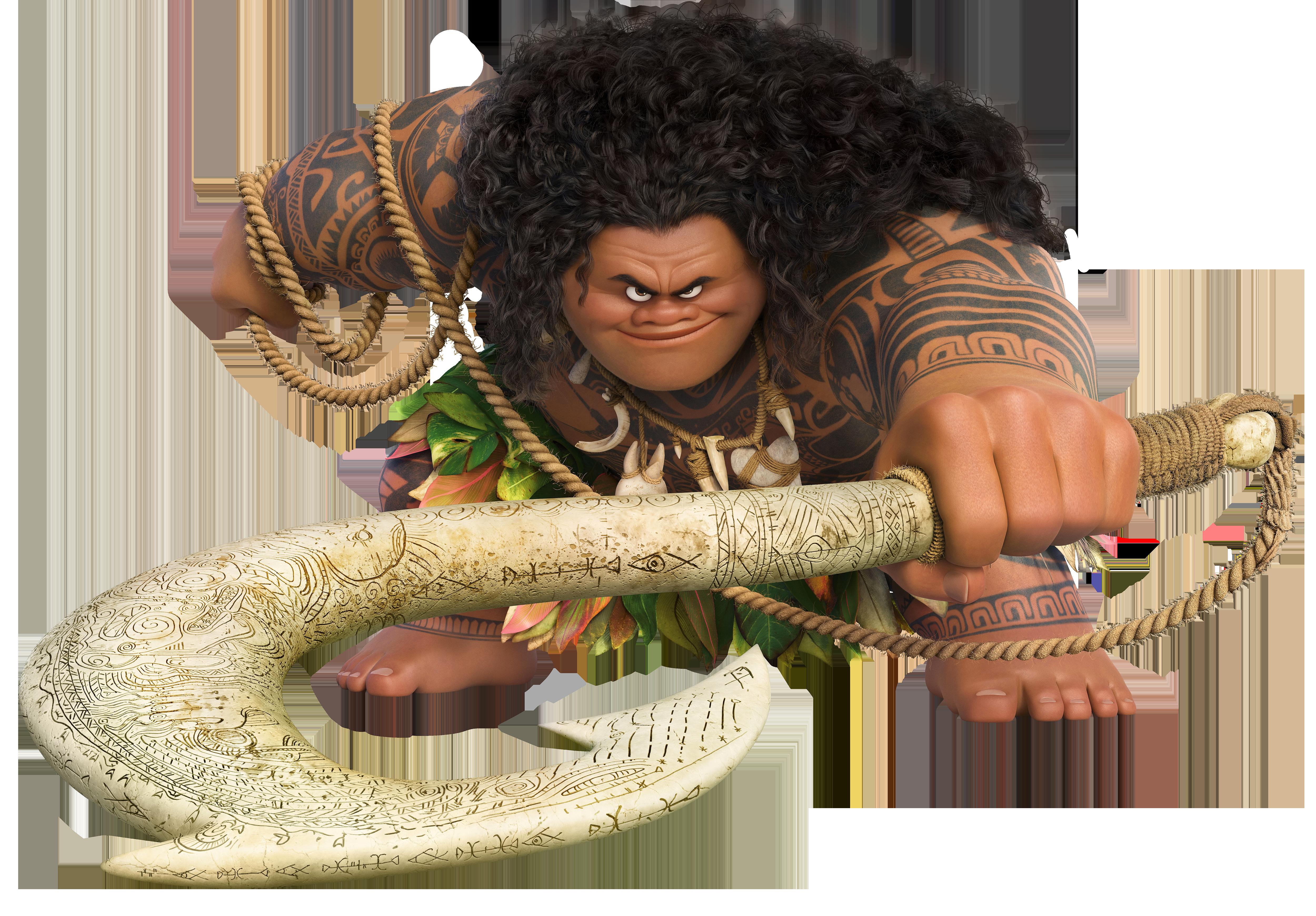 Maui Moana Disney Large Transparent PNG Image.