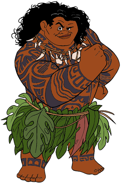 Maui from Moana ,Disney Moana.
