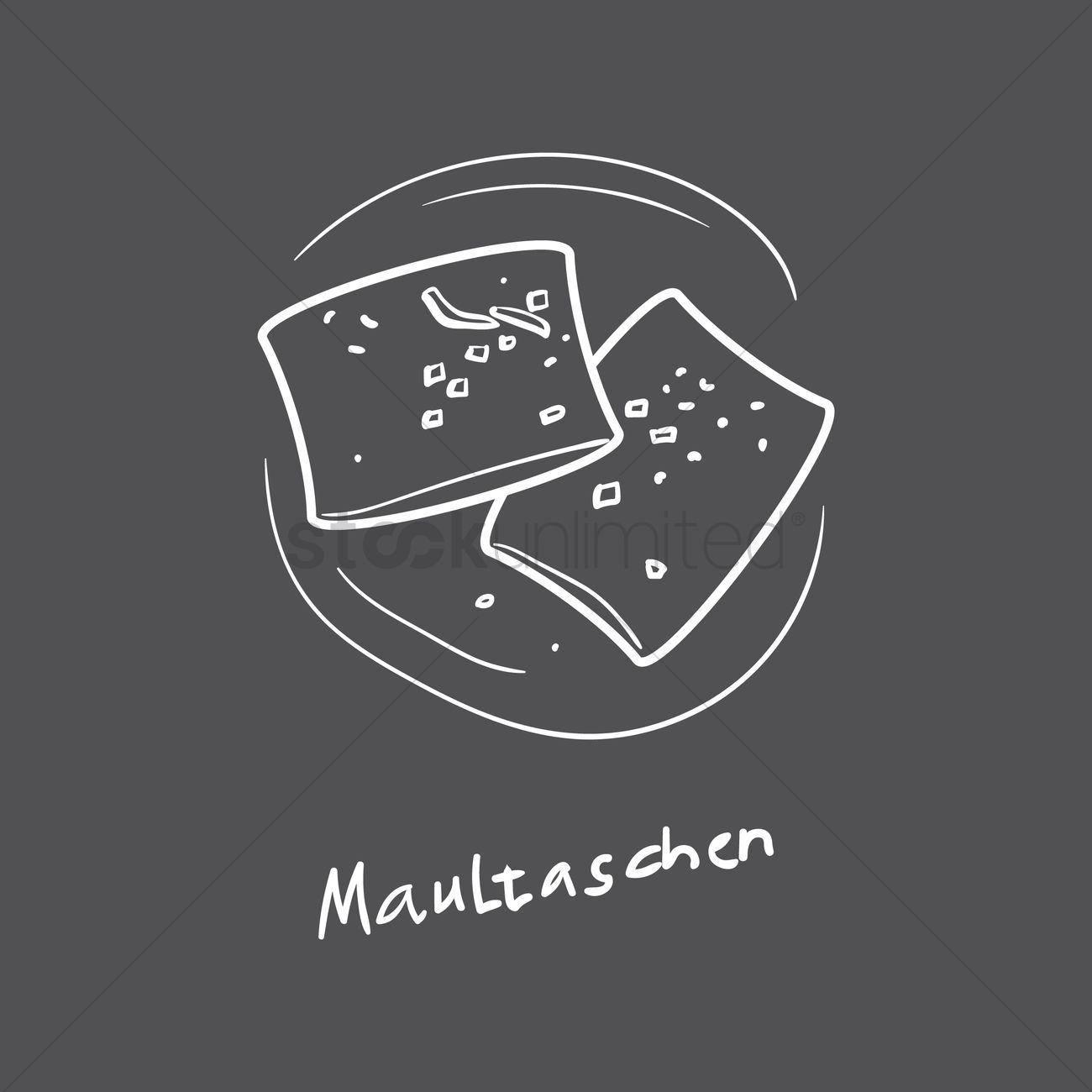Maultaschen Vector Image.