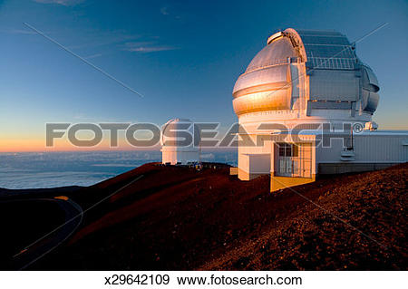 Stock Photograph of USA, Hawaii, Mauna Kea, astronomical.