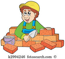 Bricklayer Clip Art Royalty Free. 967 bricklayer clipart vector.
