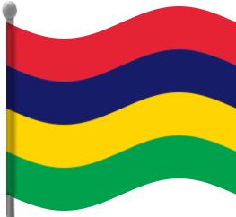 Mauritius Flag Waving Clip Art Download.
