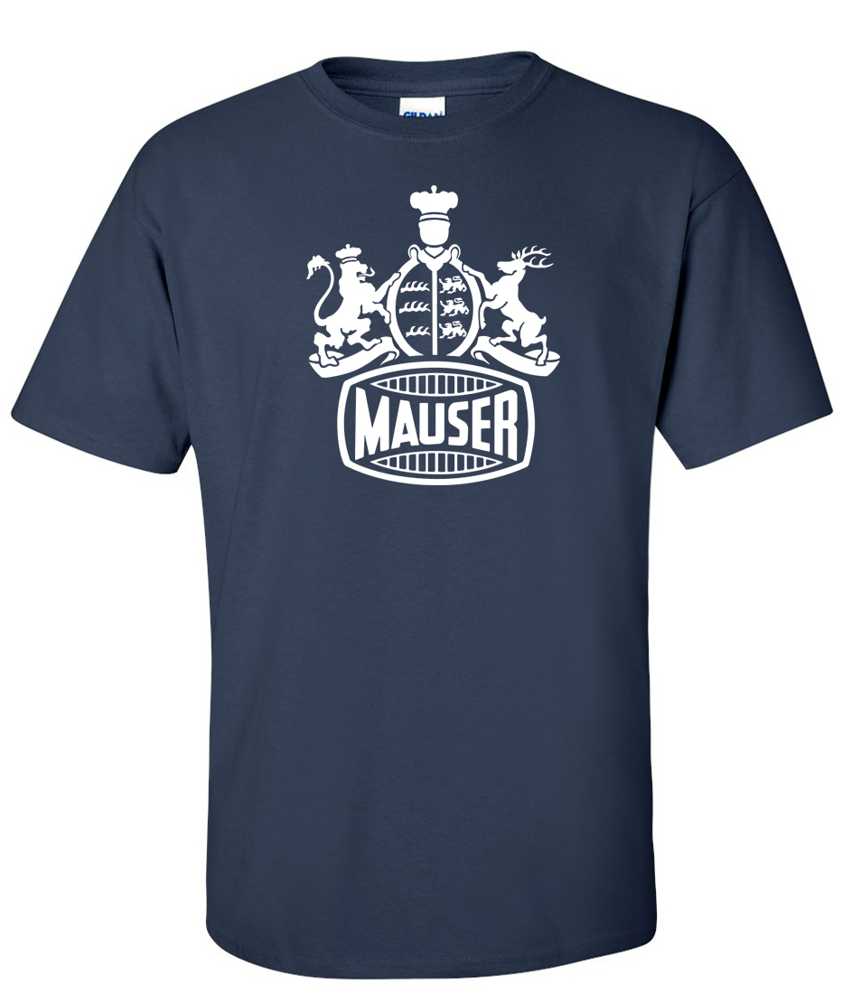 Mauser firearms Logo Graphic T Shirt.
