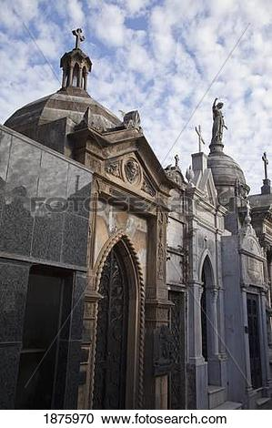 Stock Photography of Buenos Aires, Argentina; Mausoleums In.