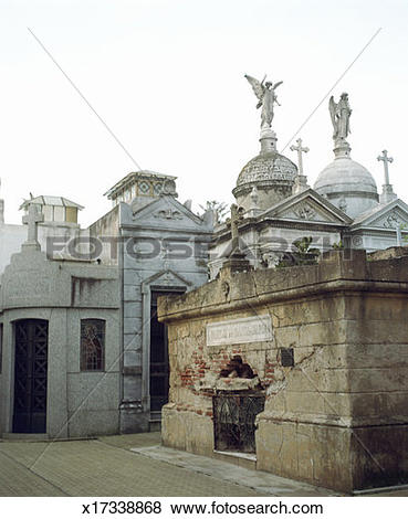 Pictures of Mausoleums and statuary in cemetery x17338868.