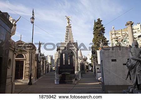 Stock Photo of Buenos Aires, Argentina; Tombs And Mausoleums In.