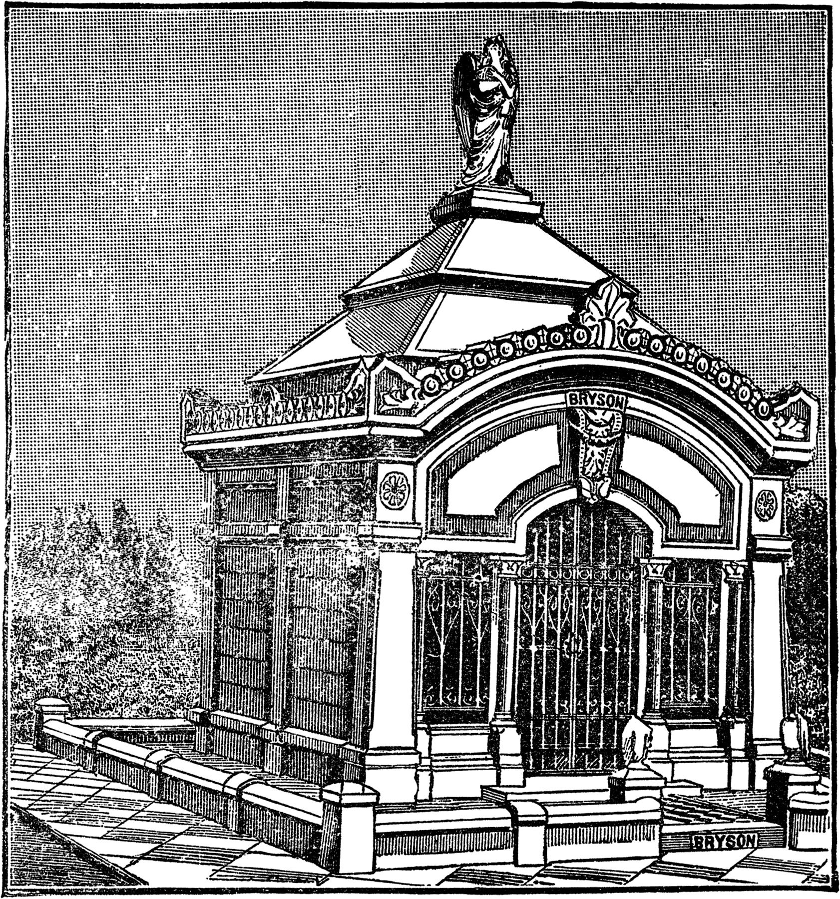 Vintage Mausoleum Image.
