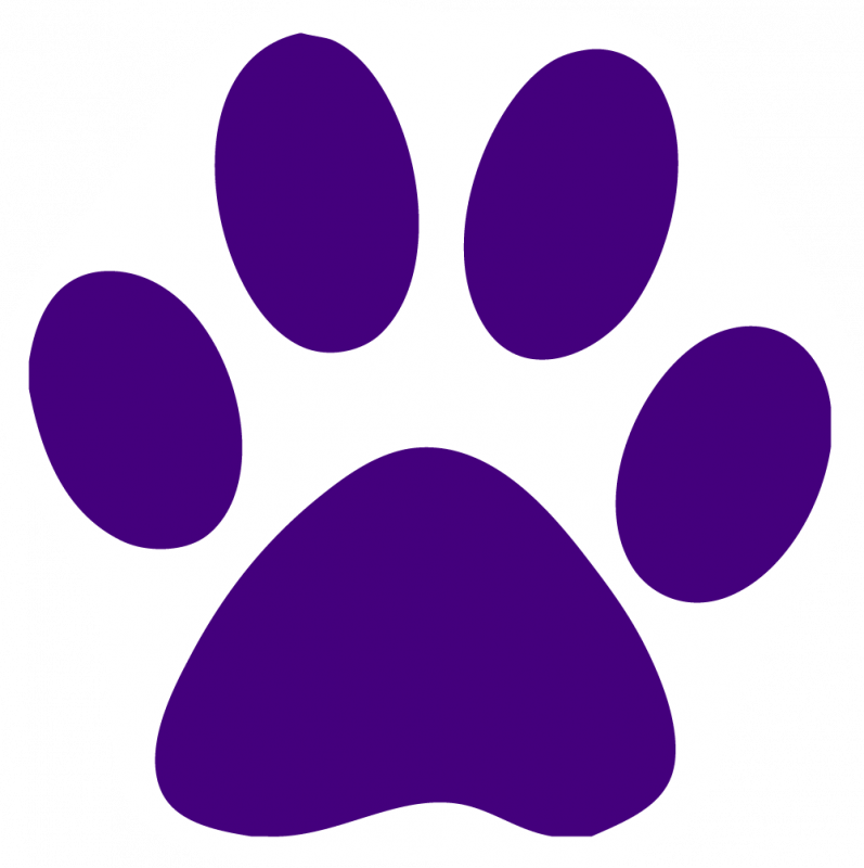 Royalty free clipart mauve paw print background.