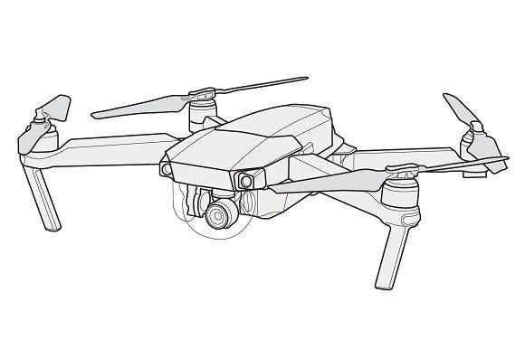 Mavic pro vector drone by Stypeface on @creativemarket in.