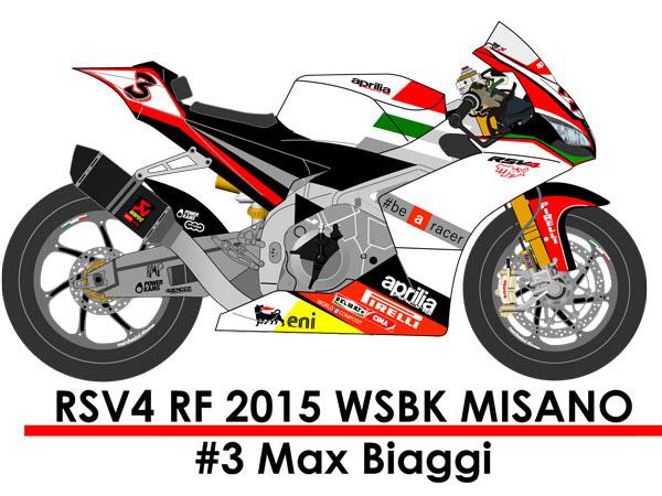 CGM Models MK12070M 1/12 Aprilia RSV4 RF 2015 WSBK MISANO #3 Max.