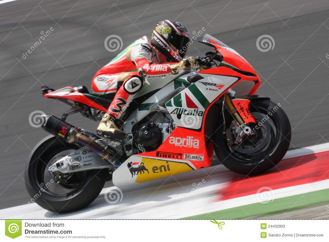 Max Biaggi Aprilia RSV4 Aprilia Racing Team Editorial Stock Photo.