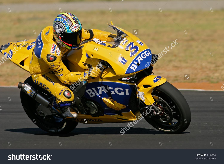 Motogp Racing Max Biaggi Phakisa Racetrack Stock Photo 1789968.
